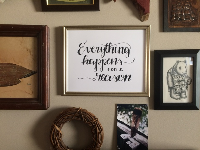 Gallery Wall - Everything Happens for a Reason