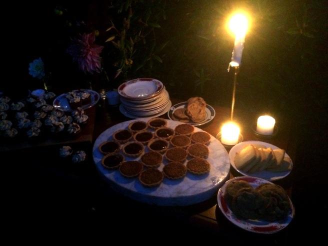 Backyard Summer Dinner Party Dessert Buffet